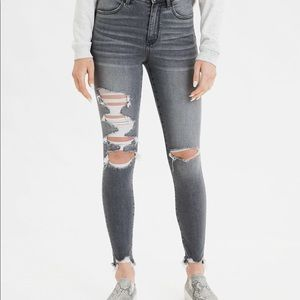 American eagle NWT grey jeans 4 regular